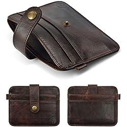ELECTROPRIME Men's PU Leather Thin Wallet ID Money Credit Card Slim Holder Money Pocket