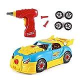 Vansoon Construction Toys, Creative Drill Construction Car, Take Apart Car Racing Car con Suoni e luci realistici, Costruisci Il Tuo Kit per Auto con Trapano Elettrico, Regalo per Bambini di 3 Anni