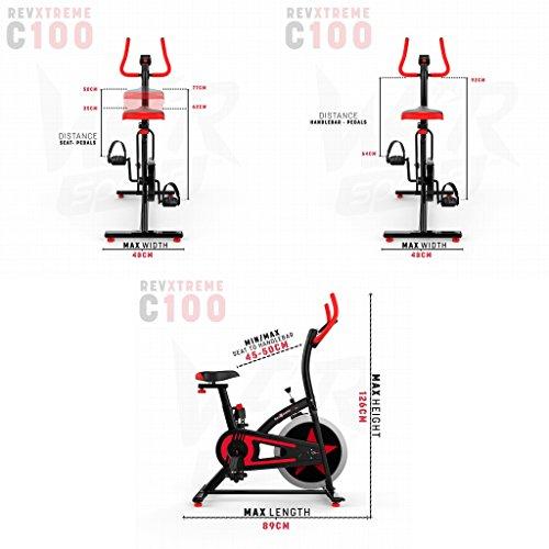 51UBaNWBcBL. SS500  - We R Sports Exercise Bike/ Aerobic Indoor Training Cycle Fitness Cardio Workout Home Cycling Machine - 10KG Flywheel
