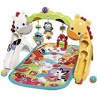 Fisher-Price CCB70 3-in-1 Erlebnisdecke Krabbeldecke mit Lichtern und Musik inkl. Spielzeugen Babyerstausstattung, ab 0 Monaten preisvergleich bei kleinkindspielzeugpreise.eu