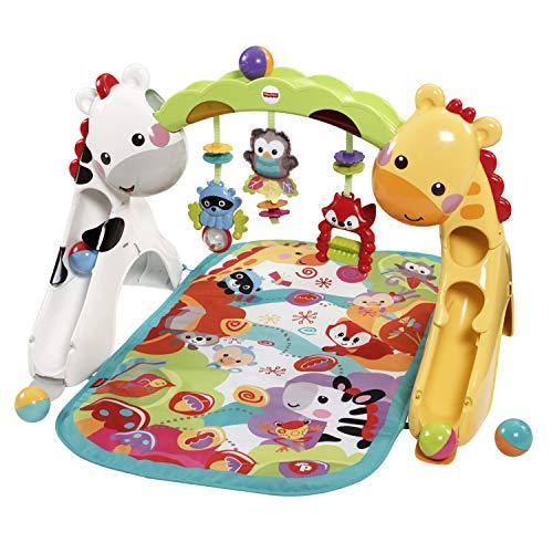 dschungel baby Fisher-Price CCB70 3-in-1 Erlebnisdecke Krabbeldecke mit Lichtern und Musik inkl. Spielzeugen Babyerstausstattung, ab 0 Monaten