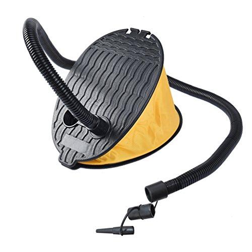 RUNACC 3000 CC Fuß Luftpumpe Fußbetätigung Kompressor Tragbar Blasebalg Fuß Pump für Camping Schlafen Luft Bett und Aufblasbare Matratze, Gelb und Schwarz