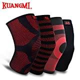 Generic black red, S : Kuangmi Knitted Knee - Best Reviews Guide