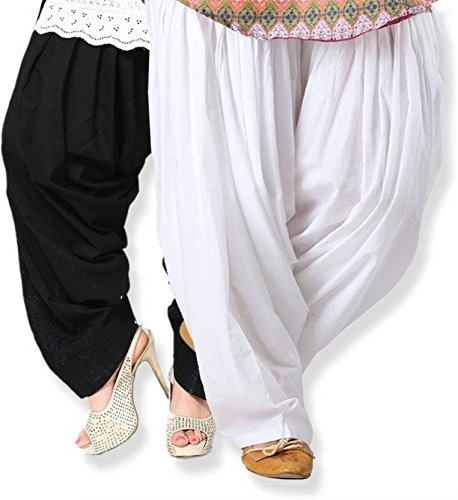 Black macy Black and White Cotton Patiyala