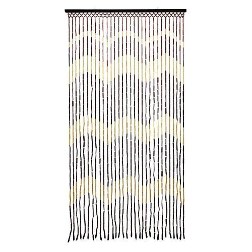 JVL Provence zum Aufhängen Holz Perlen Tür Wellen Vorhang Bildschirm, Mehrfarbig, 90x 180cm -