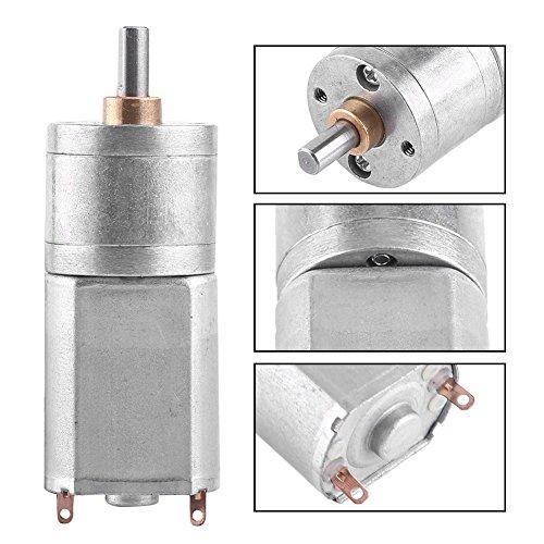 Preisvergleich Produktbild Hochdrehmoment Turbo Getriebemotor Motor DC 12V elektrische Total Metall Geschwindigkeitsreduzierung Getriebe 15/30/50/100 / 200RPM(12V 100RPM)