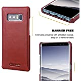 Gear Next For Galaxy Note 8 Pierre Cardin Genuine Leather Hard Back Cover Case For Samsung Galaxy Note 8 (2017) -Red