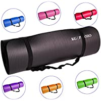 KG Physio Yoga Mat With Free Carrying Strap Thick Gym Mat Non-slip 183cm x 60cm x 1cm