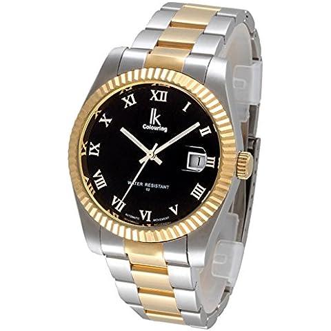 Relojes mecánicos automáticos/Disco de diamante/Relojes de los hombres/Cinta de acero-C