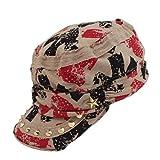 Chapeau de soleil à la mode pour Femmes à la Mode Femmes froissé style Casual plat Visière Casquette 5 couleurs (Couleur1)