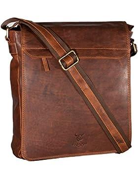 MATADOR ECHT Leder Umhängetasche Schultertasche Herren / Damen Messenger Bag Vintage Braun 160B