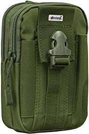 Divinext Tactical Molle Pouch EDC Utility Gadget Belt Sports Waist Bag with Cell Phone Holster Holder for iPho
