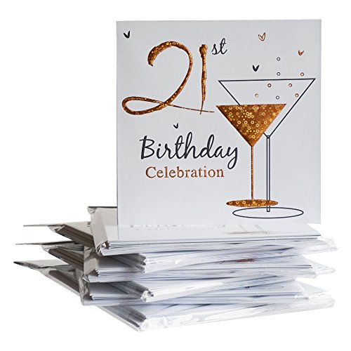 21st birthday invites amazon 21st birthday party invitations holographic 36 multipack cards with envelopes filmwisefo