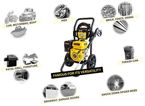 WASPPER ✦ Petrol Pressure Washer 3000 PSI ✦ 196cc Petrol Engine Powered High Pressure Portable Jet Sprayer W3000HB ✦ Premium Annovi Reverberi Pump Power, Quality Car & Patio Cleaner