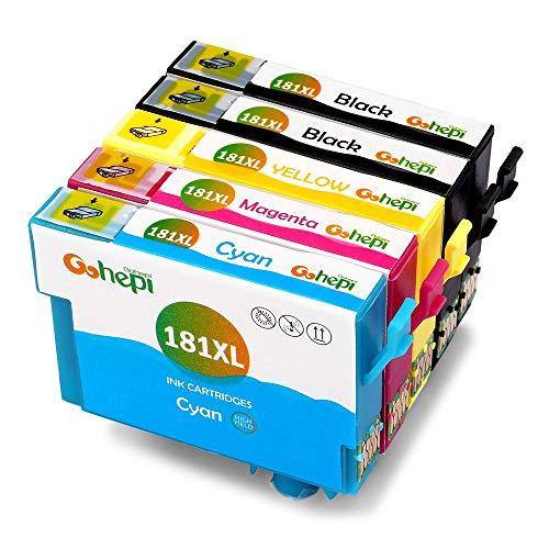 Gohepi 181XL Compatibile per Cartucce Epson 18XL 18 T1811 T1812 T1813 T1814 T1816 per Epson Expression Home XP-202 XP-305 XP-415 XP-412 XP-215 XP-212 XP-102 XP-405 XP-205 - 2 Nero/Ciano/Magenta/Giallo