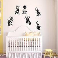 kuamai Cute Dibujos Animados Hormigas Vinilo Adhesivo De Pared Decoracion Habitaciones Infantiles Dormitorio Art Wallpaper Pegatinas