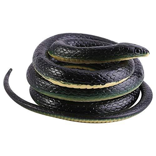 130 cm Schlange Simulation Gummi Tier Figurine Schlange Spielzeug Witz Geschenk für Jungen Sohn