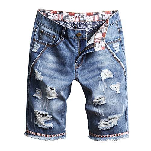 MONDHAUS Herren Denim Jeans Kurze Shorts Sommer 5-Pocket Stil Bella Cotton Jeans