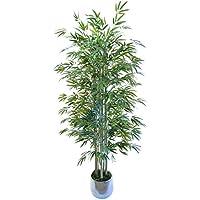 e-flor made man Bambú Artificial con Cañas Naturales. Ideal para Decoración de hogar, Materiales de Alta Calidad (180 cm)