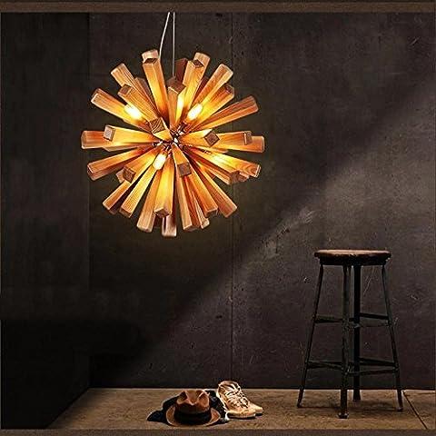 Fx@ La manera creativa de la lámpara de madera maciza cubierta de madera ligero de habitaciones Hotel Restaurant colgante de dormitorio de la lámpara , wood