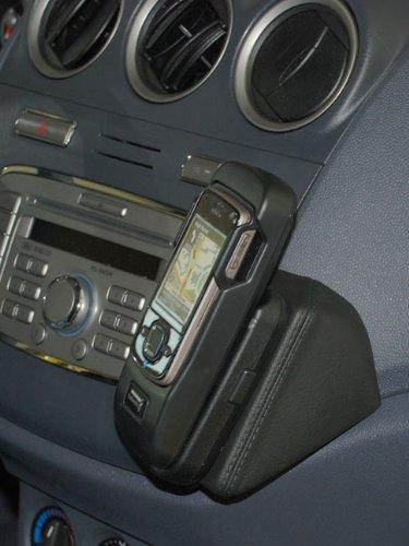 KUDA 095730 Halterung Echtleder schwarz für Ford Transit Connect ab 2009 bis 2013 (Neue Form) -