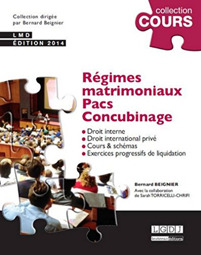 Régimes Matrimoniaux - PACS - Concubinage, 4ème édition