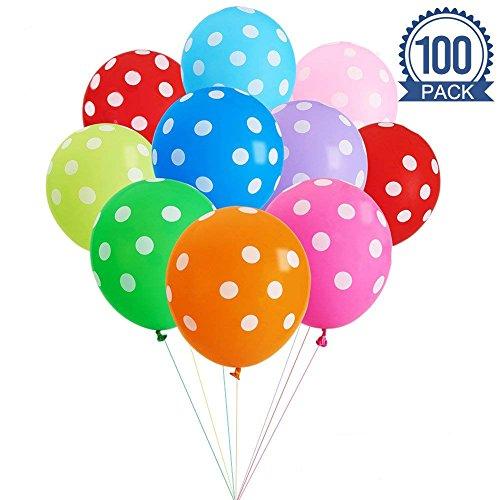 Yojoloin Aufblasbarer Ballon 12 Zoll 100 Stücke Party -