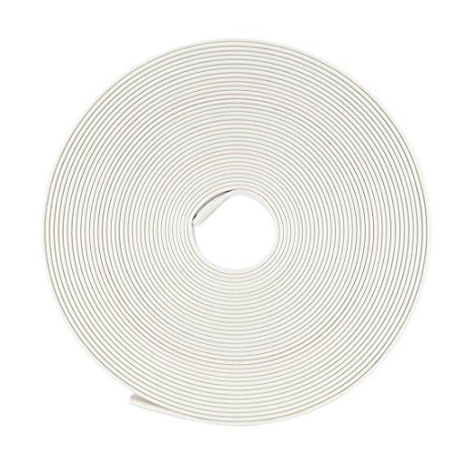 Sourcingmap Schrumpfschlauch, 2:1 Elektrischer Isolierschlauch, Draht-Schlauch, Weiß, 9 mm Durchmesser, 5 m Länge (Draht-schlauch)
