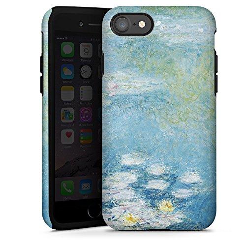 Apple iPhone X Silikon Hülle Case Schutzhülle Seerosen Claude Monet Gemälde Tough Case glänzend