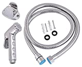 #3: Hindware 511677 Stainless Steel Health Faucet with Connect Pipe and Hook (Chrome, 9 Pieces)