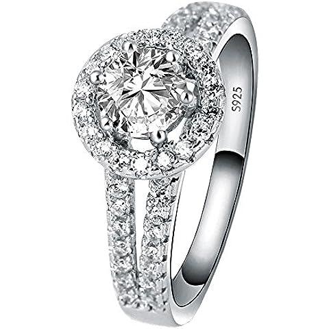 San Valentino Brillante Moda Argento Intarsiato Zircone Per L'Amante Impegno Matrimonio Anello