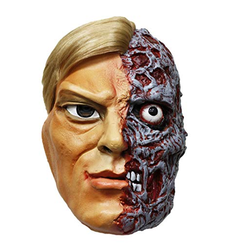 JASNO Deluxe Neuheit Horror Halloween Scary Kostüm Party Latex Zwei-Face-Maske Maskerade Requisiten