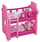 Childrens Pretend Spielen Etagenbett mit zwei Puppen [Toy]