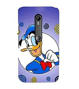 EPICCASE Lovely Donald Mobile Back Case Cover For Moto X Force (Designer Case)