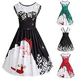 Weihnachten Kleid Damen Elegant Abendkleid Re...Vergleich