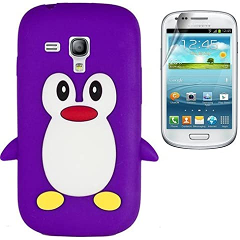 Semoss 2 in 1 Teléfono Accesorios - Funda de pingüino Silicona Carcasa Cover con protector de la pantalla para Samsung Galaxy Trend GT-S7560 / Galaxy S Duos S7562
