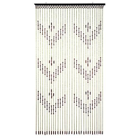 Beyondfashion 90cm x 180cm en bois de bambou Rideau de perles de porte intérieur porte écran de Arrows marron