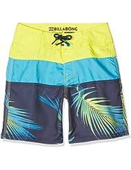 Billabong Tribong Shorts de baño niño, Niño, color Neo Lime, tamaño 10