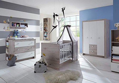 7 tlg babyzimmer kinderzimmer komplett set babym bel. Black Bedroom Furniture Sets. Home Design Ideas