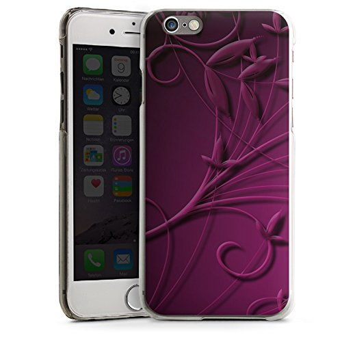 Apple iPhone 4 Housse Étui Silicone Coque Protection Vrilles Petite fleur Fleurs CasDur transparent