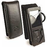 Tuff-Luv Étui housse en similicuir pour Sony Walkman NWZ-A15 - Noir