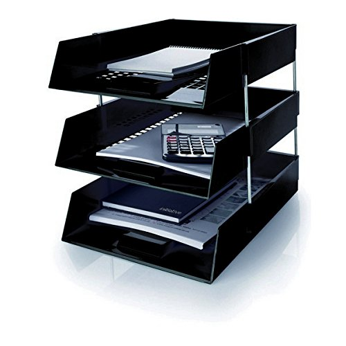 Set Of 3 Black A4 Foolscap Desk ...