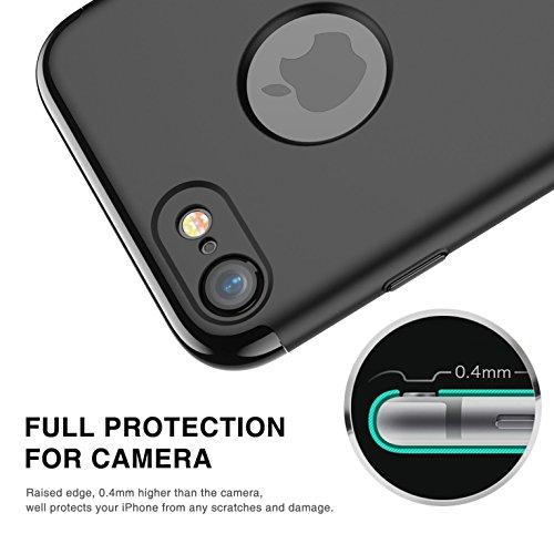 Coque iPhone 7,Coque iPhone 7 Plus,Coque iPhone 6/6S,Coque iPhone 6 Plus, Coque iPhone 6S Plus,Manyip 3 in 1Trois segments de type combiné Coque ,électrodéposition de couleur,Mince case cover(QT-02) B