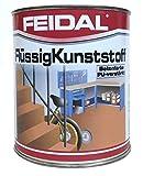 Feidal Flüssigkunststoff, zum Versiegeln und Beschichten von Betonböden, Farbton: Weiss / 2,5 Liter