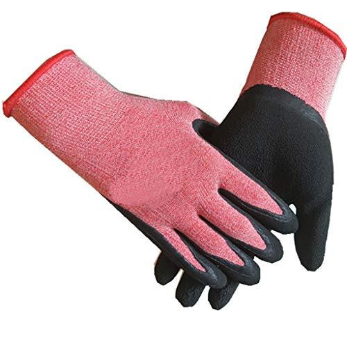 QYJpB Handschuhe rutschfest Allzweckhandschuhe Latex Peeling Abriebfest rutschfeste Atmungsaktive Arbeitshandschuhe 12 Paar Pro Packung