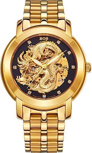 BOS-Mens-Dragon-Collection-Luxury-Carved-Dial-Automatic-Mechanical-Bracelet-Waterproof-Gold-Watch-9007