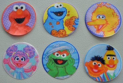 Sesame Street Edible Wafer Cupcake / Cookie Toppers Licensed by Decopac ~ Pre Cut 2 1/2 Round BUY TWO GET THIRD FREE! by MAKCreationsCakeSupply - Sesame Street Topper