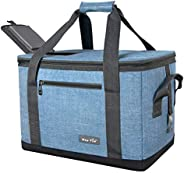 Hap Tim Soft Cooler Bag 40-Can Large Reusable Grocery Bags Soft Sided Collapsible Travel Cooler for Outdoor Tr