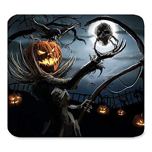 Schöner Gruseliger glücklicher Halloween-verärgerter Kürbis Süßes sonst gibt's Saures Vogelscheuche-Todesschädel-Mond-Baum-Wolken-Geschenk Einzigartige Rechteck-Mausunterlage