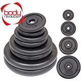 Body Revolution Cast Iron Weight Plates - Pairs - 1kg to 50 kg